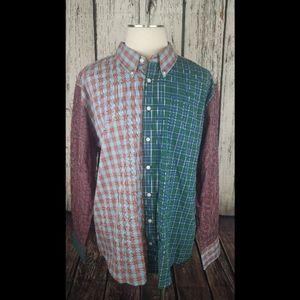 Tommy Hilfiger Slim Fit Plaid Button Front Shirt